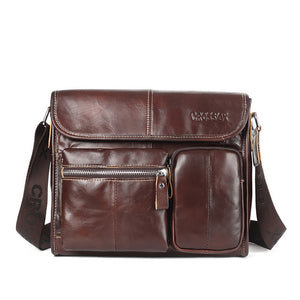CROSS OX New Wax Leather Series Messenger Bag For Men Bag Genuine Leather Shoulder Bags Cross Body Bags Vintage Satchel SL395M