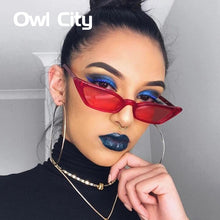 Vintage Sunglasses Women Cat Eye Luxury Brand Designer Sun Glasses Retro Small Red ladies Sunglass Black Eyewear Female Shades