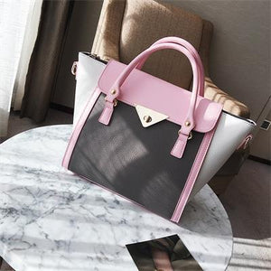 VOLESS Wings Bag Women Leather Handbags Female Fahsion Panelled Crossbody Bags For Women Pu Leather Top-Hand Tote Bag Sac a Main
