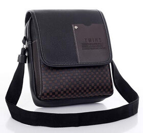 TMYOY Vintage Men's Bag Shoulder Crossbody Bags For Men Messenger Bag Leather Pu Plaid Small Male Black 2018 Bolso Hombre DH4834