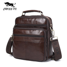 CROSS OX Mens Genuine Leather Handbag Shoulder Bag Oil Wax Cow Leather Bag Vintage Casual Style Flap Bags SL422M