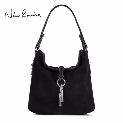 Split Leather Shoulder Bag