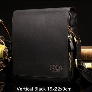 POLO Business pu Leather Men Messenger Bag