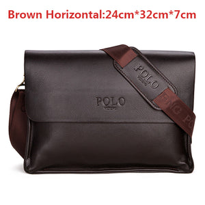 Leather Men Bags Famous Brand Classic POLO