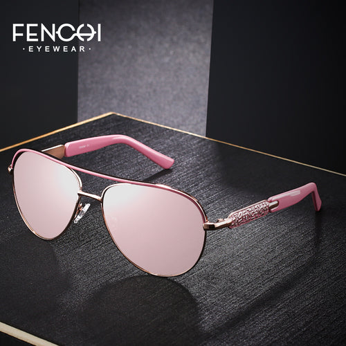 FENCHI Small Face Sunglasses Women Metal Hot Rays Driving Pilot Fashion Men Design New Sun glasses High Quality  feminino