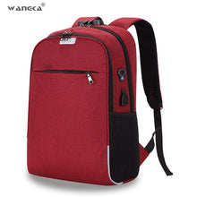 WANGKA USB Charging Laptop Backpack 15.6 inch Anti Theft Women Men School Bags For Teenage Girls College Travel Backpack Nylon