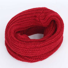 Children's Solid Color Knit Scarf