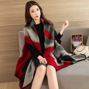 Fashionable Ladies Winter Scarf and Shawls Blanket Print