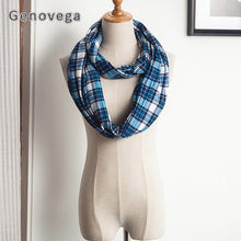Genovega 11 kinds Women Infinity Scarf With Hidden Pocket Loop Scarf Men Warm Plaid Scarf Lady Male Zipper Ring Scarf Female