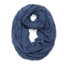 Knitted Cable Ring Soft Infinity Scarves