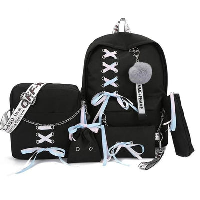 Trifecta 3 Piece Backpack - Cross Black / 30x13x41cm