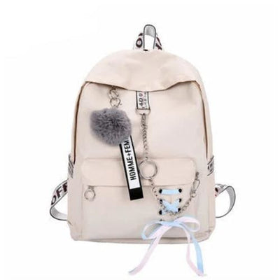 Trifecta 3 Piece Backpack - Solid Beige / 30x13x41cm