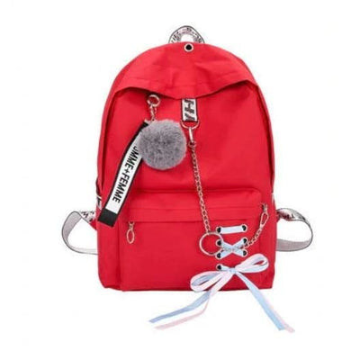 Trifecta 3 Piece Backpack - Solid Red / 30x13x41cm