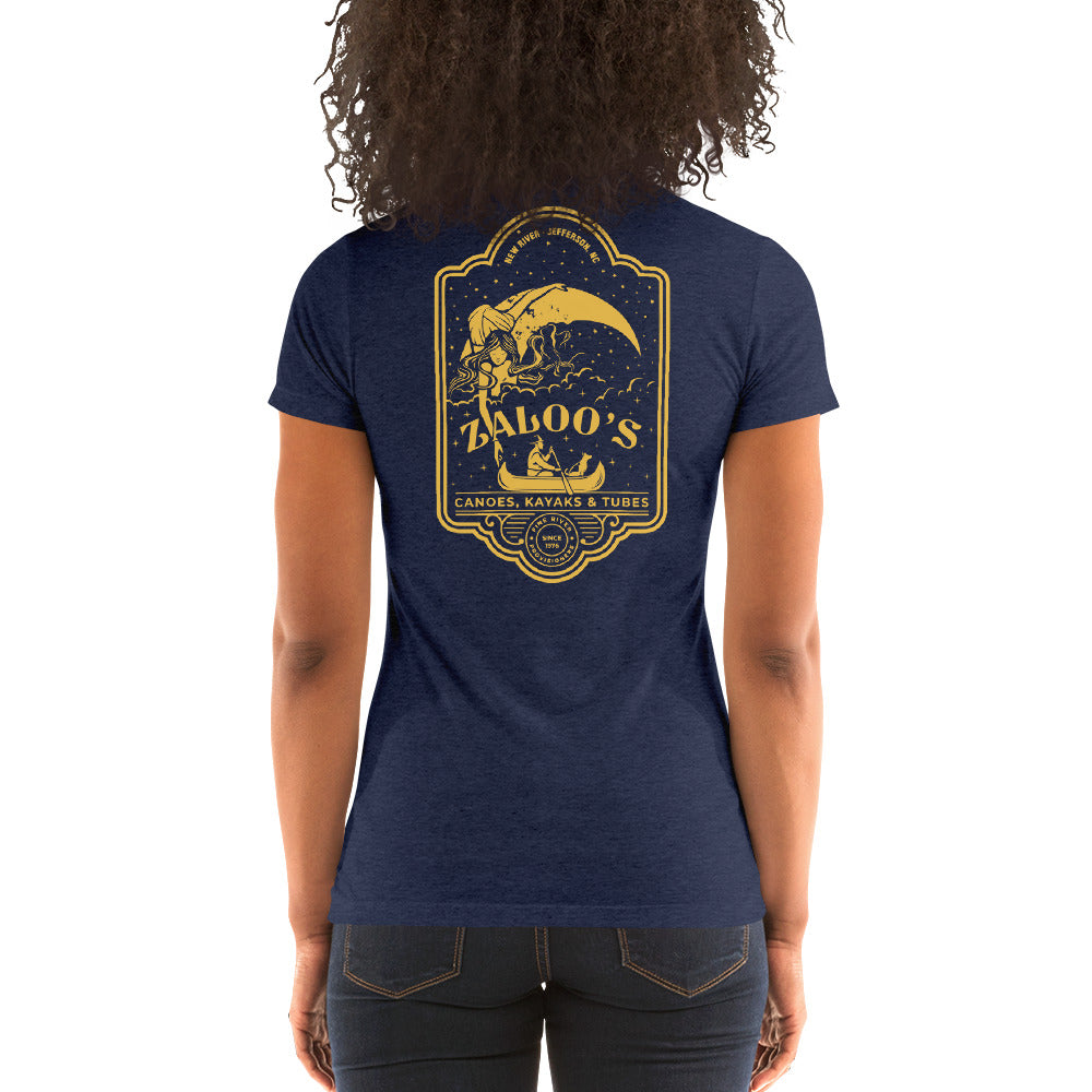 Zaloo's Navy Logo Women's Short-Sleeve T-Shirt