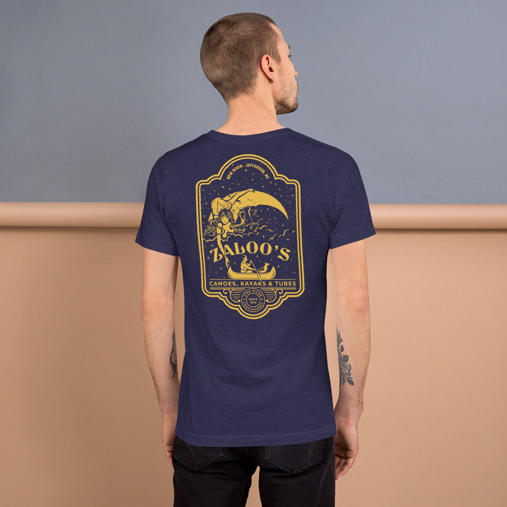 Zaloo's Navy Logo Short-Sleeve Unisex T-Shirt