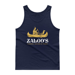 Zaloo's Navy Logo Men's Tank Top