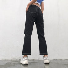 Load image into Gallery viewer, HARSH Contrast Trim Cut-Out Pants