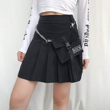 Load image into Gallery viewer, ROCK Pocket Chain Pleated Skirt