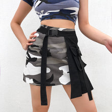Load image into Gallery viewer, Camouflage Buckle Skirt