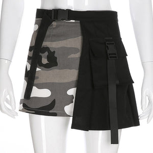 Camouflage Buckle Skirt