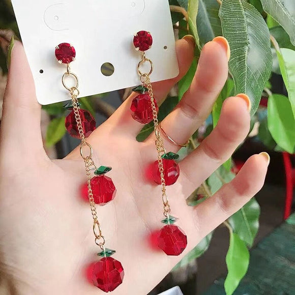 Cherry Vine Drop Earrings