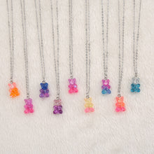 Load image into Gallery viewer, Single Glitter Gummy Bear Necklace