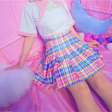 Load image into Gallery viewer, Candy Plaid Pleated Skirt