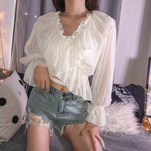 Chiffon Criss-Cross Blouse