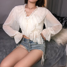 Load image into Gallery viewer, Chiffon Criss-Cross Blouse
