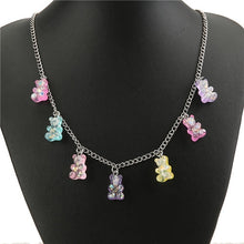 Load image into Gallery viewer, Vibrant Gummy Bear Charm Necklace