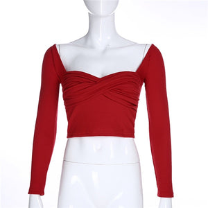 Ripe Cherry Sweetheart Peasant Top