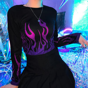 Electric Flames Long Sleeve Top