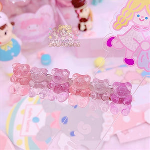Pastel Gummy Bear Hair Clip