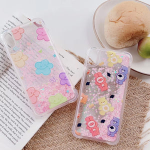 Care Bears Quicksand Glitter iPhone Case