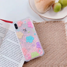 Load image into Gallery viewer, Care Bears Quicksand Glitter iPhone Case