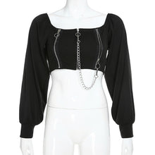 Load image into Gallery viewer, HARSH Gothic Peasant Blouse