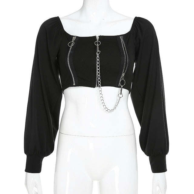 HARSH Gothic Peasant Blouse