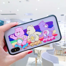 Load image into Gallery viewer, Neon Care Bears iPhone Case