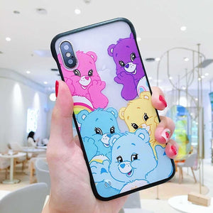 Neon Care Bears iPhone Case