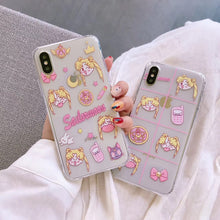 Load image into Gallery viewer, Sailor Moon Doodle iPhone Case