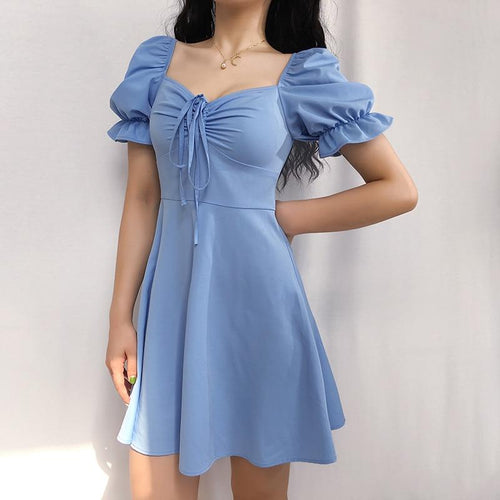 Powder Blue Sweetheart Dress