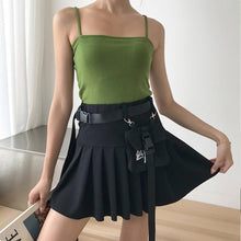 Load image into Gallery viewer, Buckle Belt Pleated Skirt
