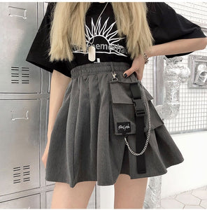 Chunky Pocket Pleated Skirt