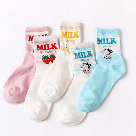 Kawaii Milk Socks