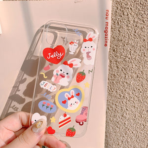 Strawberry Jelly Bunny iPhone Case