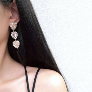 Eleganza Heart Crystal Earrings