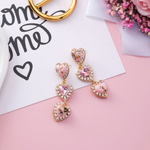 Load image into Gallery viewer, Eleganza Heart Crystal Earrings