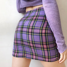 Load image into Gallery viewer, Purple Plaid Mini Skirt