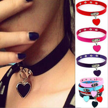 Load image into Gallery viewer, Heart Dog Tag Choker