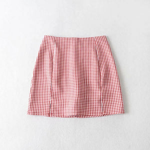 Alex Plaid Mini Skirt
